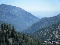 Iron Mountain towering over the San Gabriel River Basin - Wrightwood CA