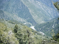 Looking down at where the Mine Gulch enters the San Gabriel River Basin, as viewed from Bighorn Mine - Wrightwood CA