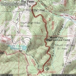 Map of Blue Ridge Trail - Wrightwood CA Hiking