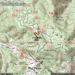 Map of Table Mountain Nature Trail - Wrightwood CA Hiking