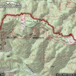 Map of PCT 1: Vincent Gap to Inspiration Point - Wrightwood CA Hiking