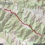 Map of PCT 2: Inspiration Point to Guffy Campground - Wrightwood CA Hiking
