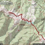 Pacific Crest Trail (Inspiration Point to Guffy Campground) Map (First Half) - Wrightwood CA Hiking