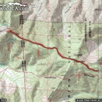 Map of PCT 3: Guffy Campground to Wright Mountain - Wrightwood CA Hiking