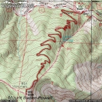 Map of Mt. Baden Powell Trail - Wrightwood CA Hiking