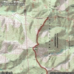 North Backbone Trail Map (First Half) - Wrightwood CA Hiking