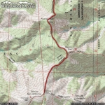 North Backbone Trail Map (Second Half) - Wrightwood CA Hiking