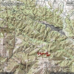 Dawson Peak Area Map - Wrightwood CA Hiking