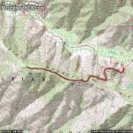 Map of Pine Mountain Ridge Trail - Wrightwood CA Hiking