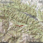 Pine Mountain Ridge Trail Area Map - Wrightwood CA Hiking