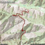 Map of Fish Fork Trail - Wrightwood CA Hiking