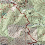 Map of Bighorn Mine Trail - Wrightwood CA Hiking