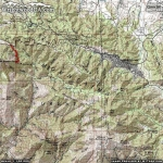 Bighorn Trail Area Map - Wrightwood CA Hiking