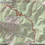 Map of Mine Gulch Trail - Wrightwood CA Hiking