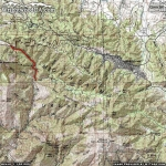 Mine Gulch Trail Area Map - Wrightwood CA Hiking