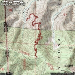 Map of Acorn Trail - Wrightwood CA Hiking