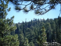 Ski lifts at Mountain High East viewed from the Blue Ridge Trail - Wrightwood CA Hiking
