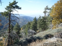 Looking down toward Jackson Lake on the Table Mountain Nature Trail - Wrightwood CA Hiking