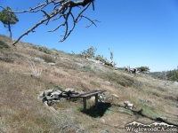 Bench on Lightning Ridge Nature Trail - Wrightwood CA Hiking