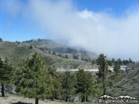 Looking at Inspiration Point from Lightning Ridge Nature Trail - Wrightwood CA Hiking