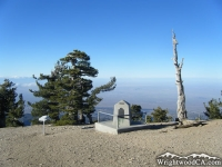 Boy Scout Monument at the top of the Mt Baden Powell Trail - Wrightwood CA Hiking