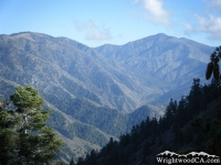 Vincent Gulch, Prairie Fork, Pine Mountain and Blue Ridge as viewed from Mt Baden Powell Trail - Wrightwood CA Hiking