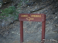 Lamel Springs cutoff from Mt Baden Powell Trail - Wrightwood CA Hiking