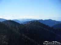 Looking over the San Gabriel Mountains from the Mt Baden Powell Trail - Wrightwood CA Hiking