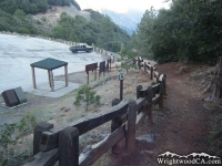 Returning to Vincent Gap parking lot at end of Mt Baden Powell Trail - Wrightwood CA Hiking