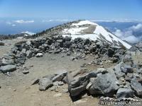 Rocks on the Peak of Mt Baldy on North Backbone Trail - Wrightwood CA Hiking