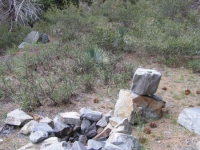 Campsite near bottom of Dawson Peak Trail - Wrightwood CA Hiking