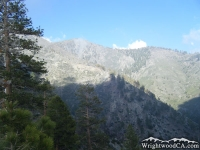 Looking up toward Dawson Peak on the Fish Fork Trail - Wrightwood CA Hiking