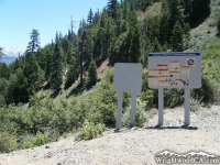 Bighorn Mine Trail at Mine Gulch Trail split - Wrightwood CA Hiking