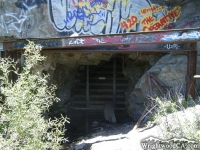 Closed off mining tunnel on Bighorn Mine Trail - Wrightwood CA Hiking