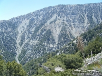 Looking at side of Ross Mountain (Part of Mt Baden Powell) on Bighorn Mine Trail - Wrightwood CA Hiking