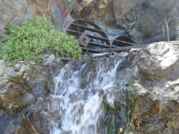Water falling from mining tunnels on Bighorn Mine Trail - Wrightwood CA Hiking