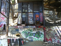 Graffiti all over Bighorn Mine.  - Wrightwood CA Hiking