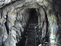 Main mining tunnel at Bighorn Mine - Wrightwood CA Hiking