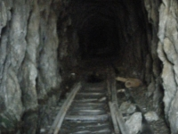 Main mining tunnel at Bighorn Mine - Wrightwood CA Hiking