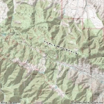 Topographic Map of Table Mountain - Wrightwood CA Mountains