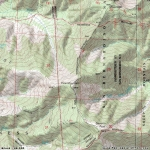 Topographic Map of Pine Mountain - Wrightwood CA Mountains