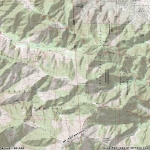Topographic Map of Mt Baldy - Wrightwood CA Mountains