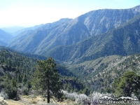 Looking down San Gabriel River Basin (East Fork) from Inspiration Point - Wrightwood CA Mountains