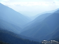 San Gabriel River Basin (East Fork) as viewed from Inspiration Point - Wrightwood CA Mountains