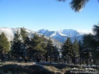 Blue Ridge (left), Pine Mountain (center), and Mt Baldy (right) from Inspiration Point - Wrightwood CA Mountains