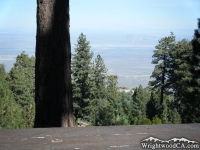 High Desert as viewed from a campsite in Table Mountain Campground - Wrightwood CA Mountains