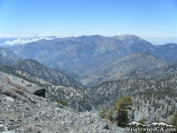 Pine Mountain Ridge (right) and Mt Baden Powell in background - Wrightwood CA Mountains
