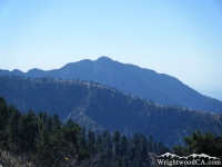 Pine Mountain Ridge in front of Iron Mountain - Wrightwood CA Mountains