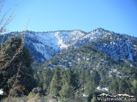 Snow on Sheep Canyon Landslide of Wright Mountain - Wrightwood CA Mountains