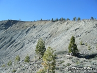 Face of Heath Canyon Landslide on Wright Mountain - Wrightwood CA Mountains